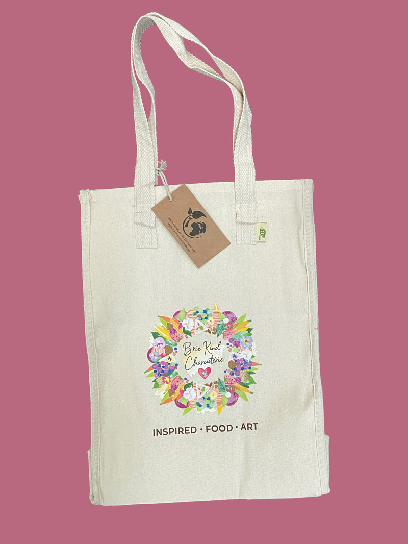 Brie Kind Charcuterie Recycled Cotton Market Bag